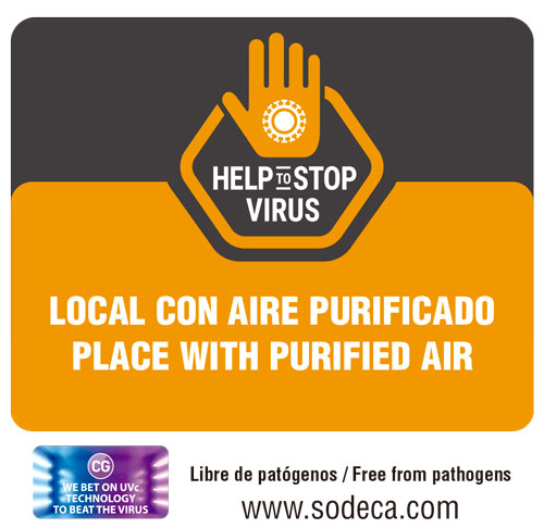 adhesivo aire purificante cg