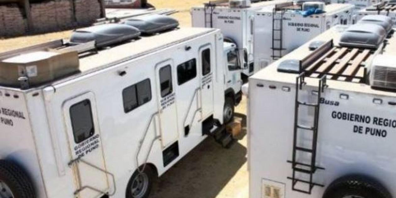 Entregarán 11 hospitales móviles a redes de salud de Puno