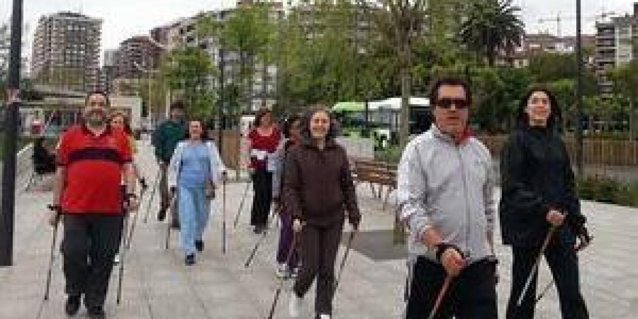 Marcha nórdica de pacientes con enfermedades respiratorias