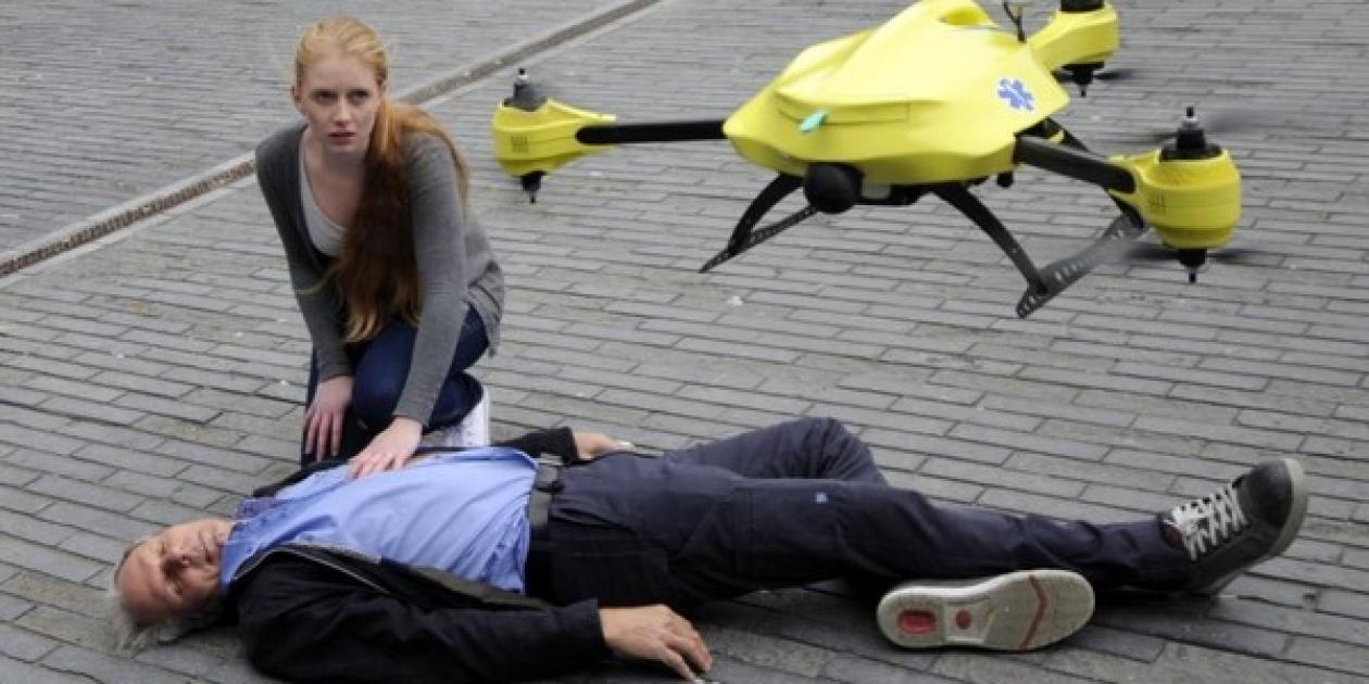 Fabrican un dron-ambulancia para ayudar en situaciones de emergencia