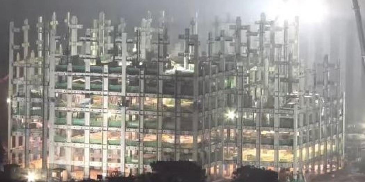 China logra construir un rascacielos de 57 pisos en 19 días