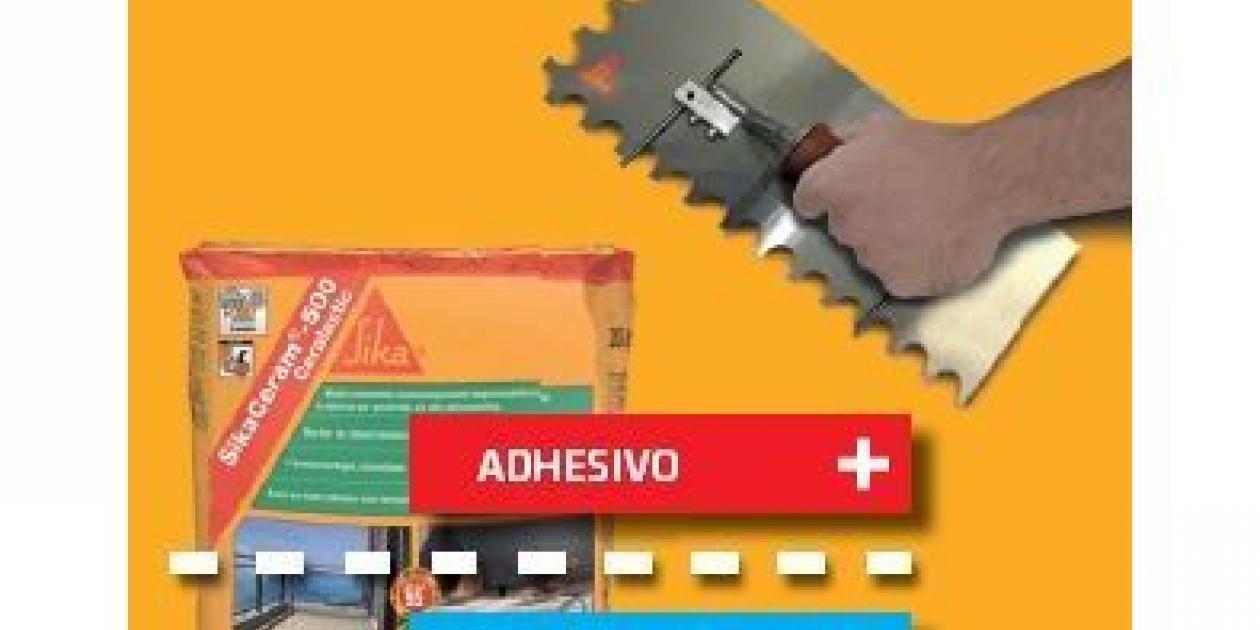 Sika presenta en su stand de Cevisama las novedades de la gama completa SikaCeram® de adhesivos y productos de rejuntado.