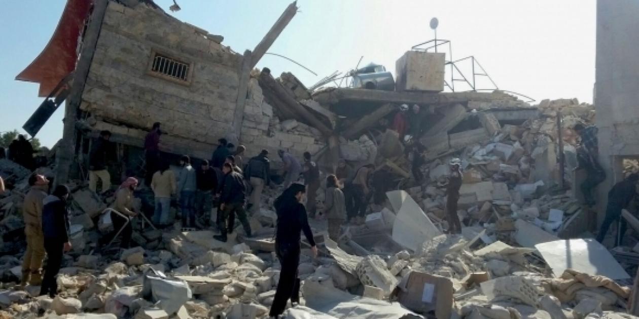 Un hospital destruido en Siria por cuatro misiles.
