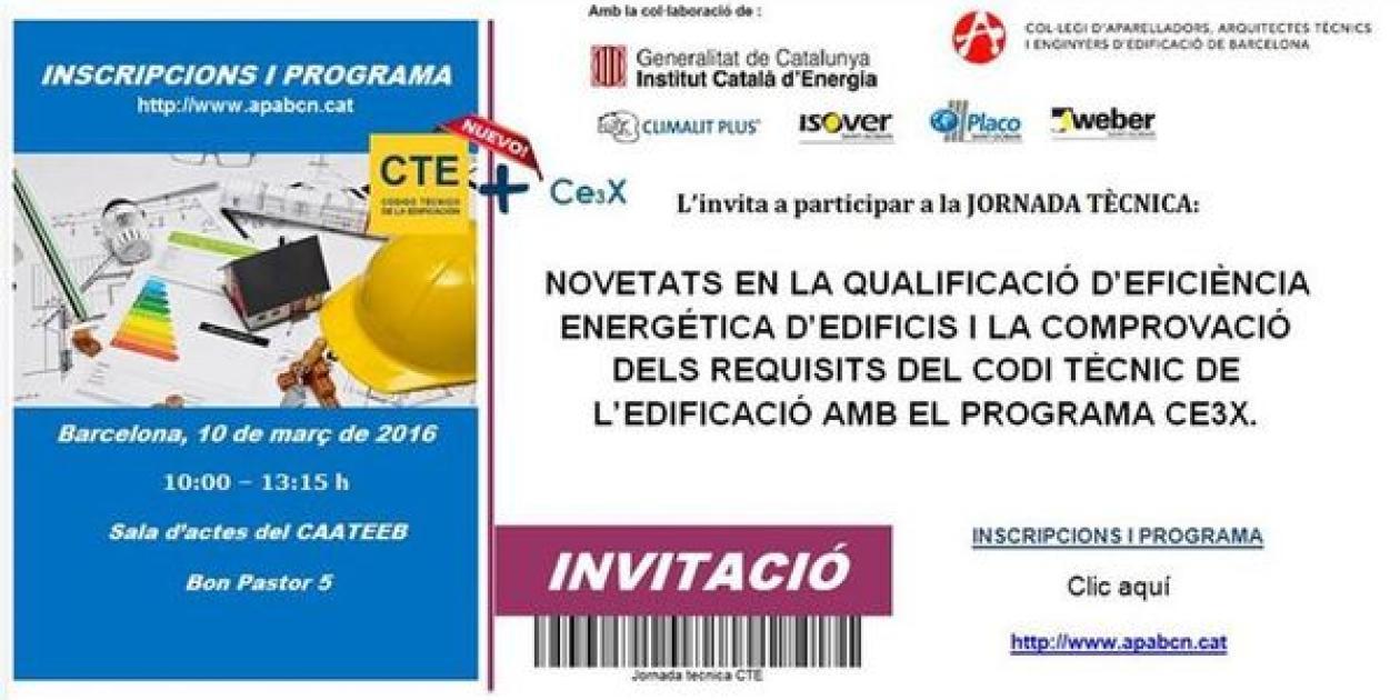 """Isover participará con una ponencia en la jornada: """"Novetats en la qualificació d'eficiència energètica d'edificis i la comprovació del CTE"""""""