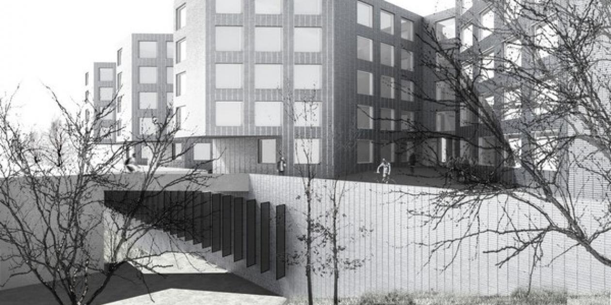 Propuesta Finalista de Reordenación del Campus Vall d'Hebrón. Martinez Lapeña - Elías Torres