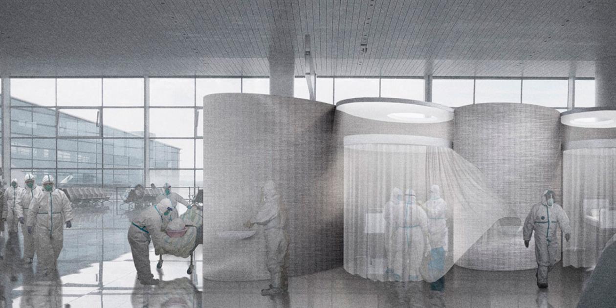 Transformación aeropuerto de Berlín en un hospital temporal contra el COVID-19