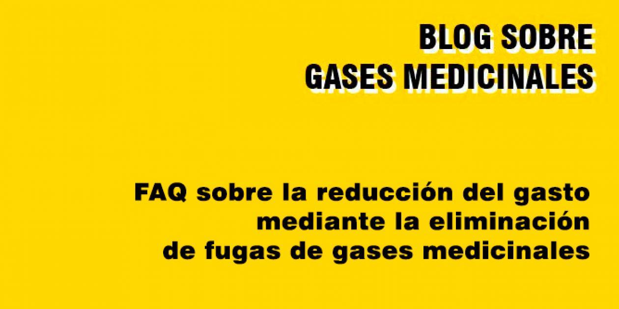 FAQ sobre la reducción del gasto mediante la eliminación de fugas de gases medicinales