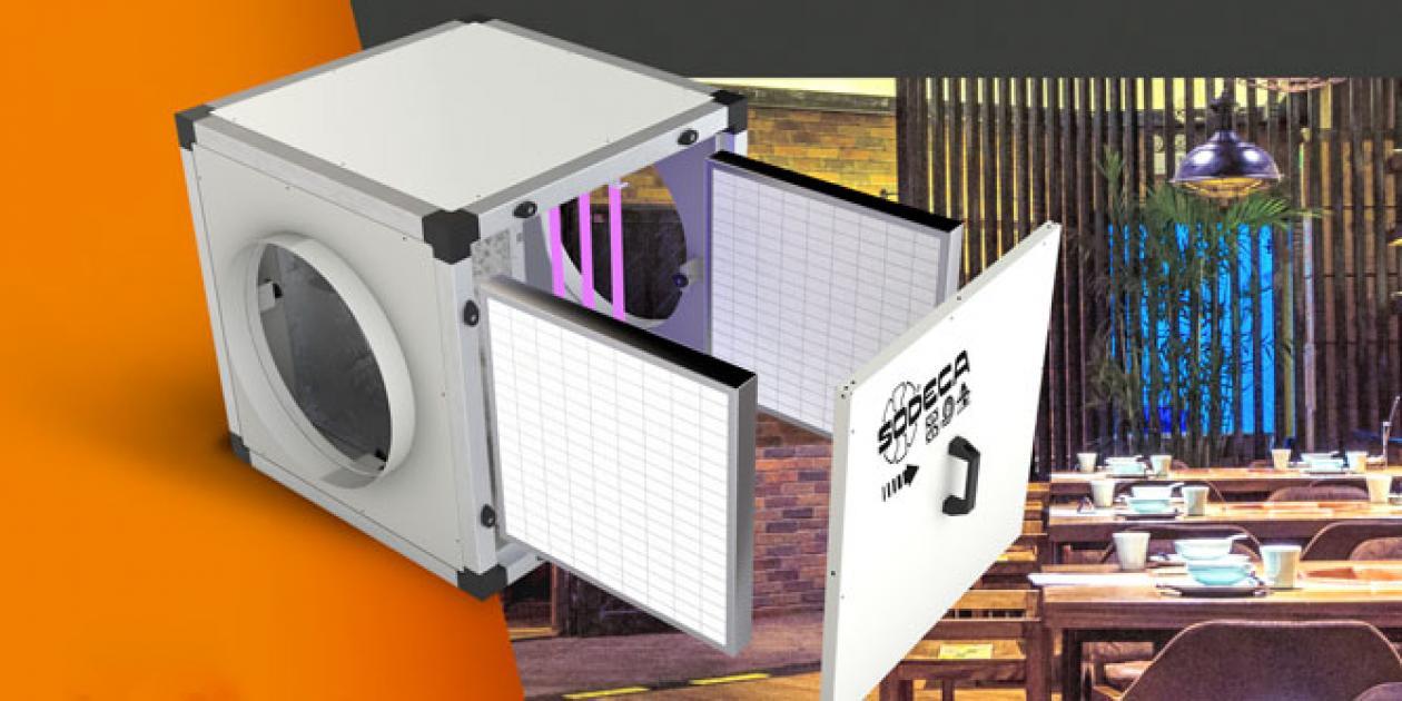 CG/FILTER-UVc: Purificador de aire sin ventilador