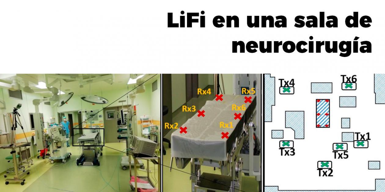 Experimentando sistemas LiFi en un hospital