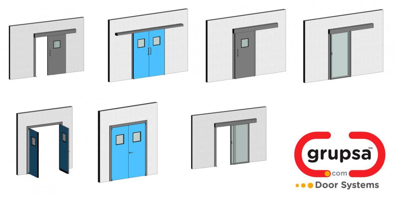 Grupsa actualiza sus modelos BIM de puertas herméticas de su gama Hospital System