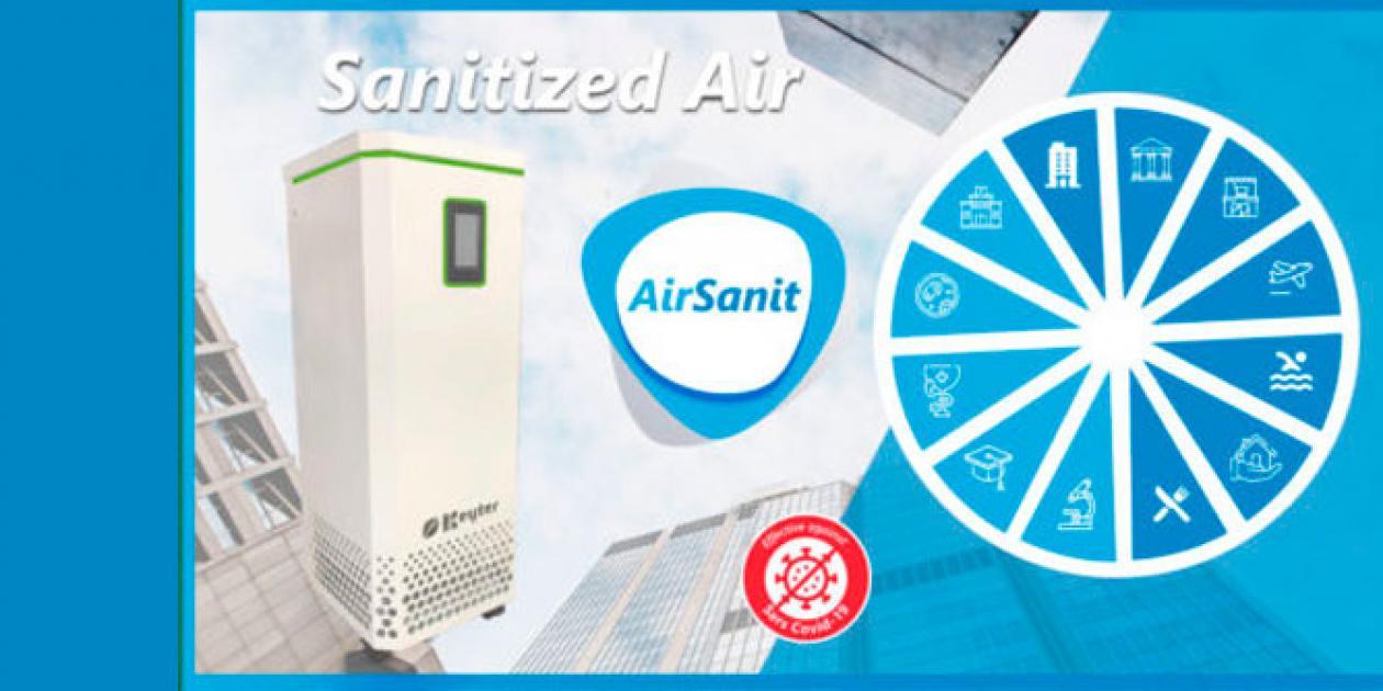 KEYTER presenta AirSanit, único sistema de tratamiento y purificación del aire compatible con la presencia de personas