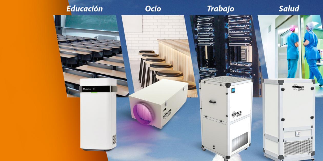 Cómo obtener una buena calidad del aire interior con purificadores que inactivan el COVID-19