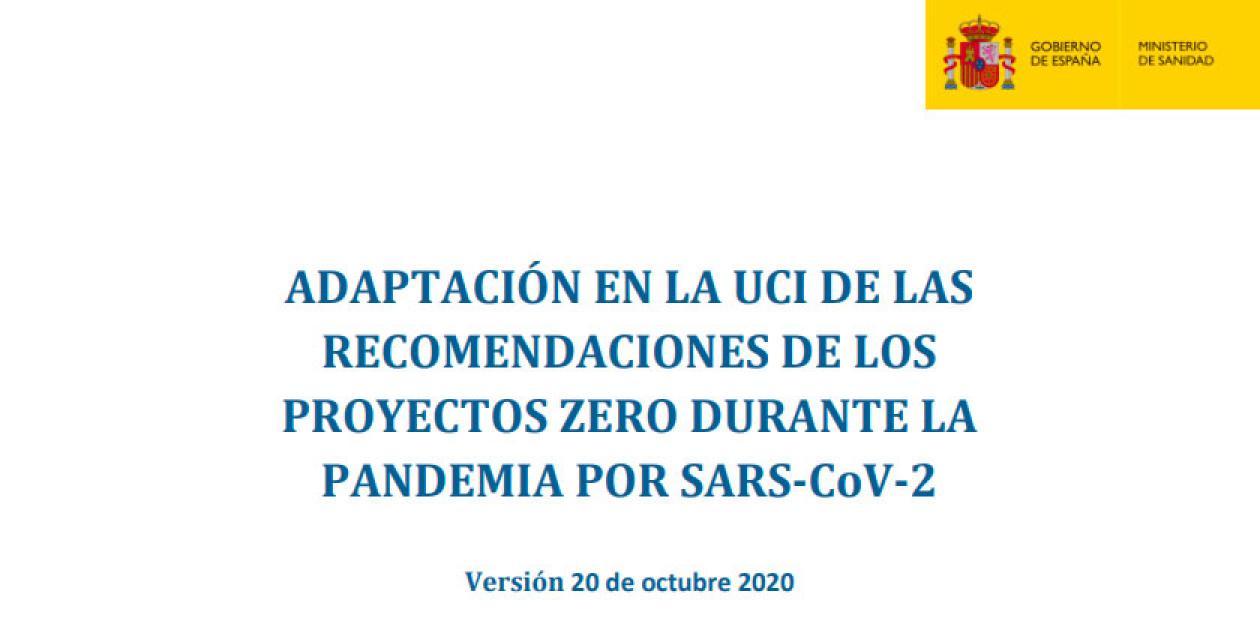 Adaptación en la UCI de las recomendaciones de los proyectos Zero durante la pandemia por SARS-CoV-2