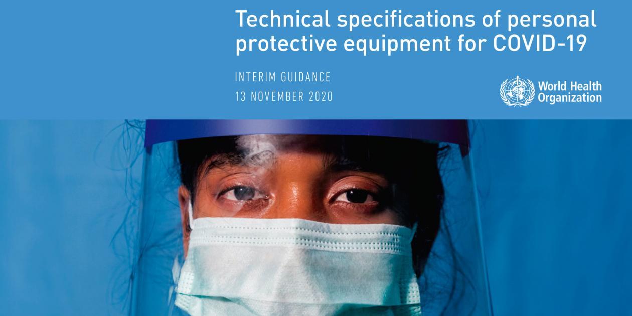 Especificaciones técnicas del equipo de protección individual para COVID-19
