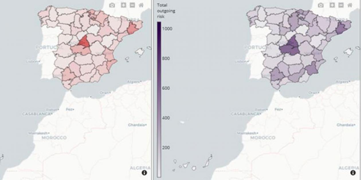 El BSC pone a disposición una herramienta para visualizar la relación entre la movilidad de los ciudadanos y el riesgo de propagación de la Covid-19