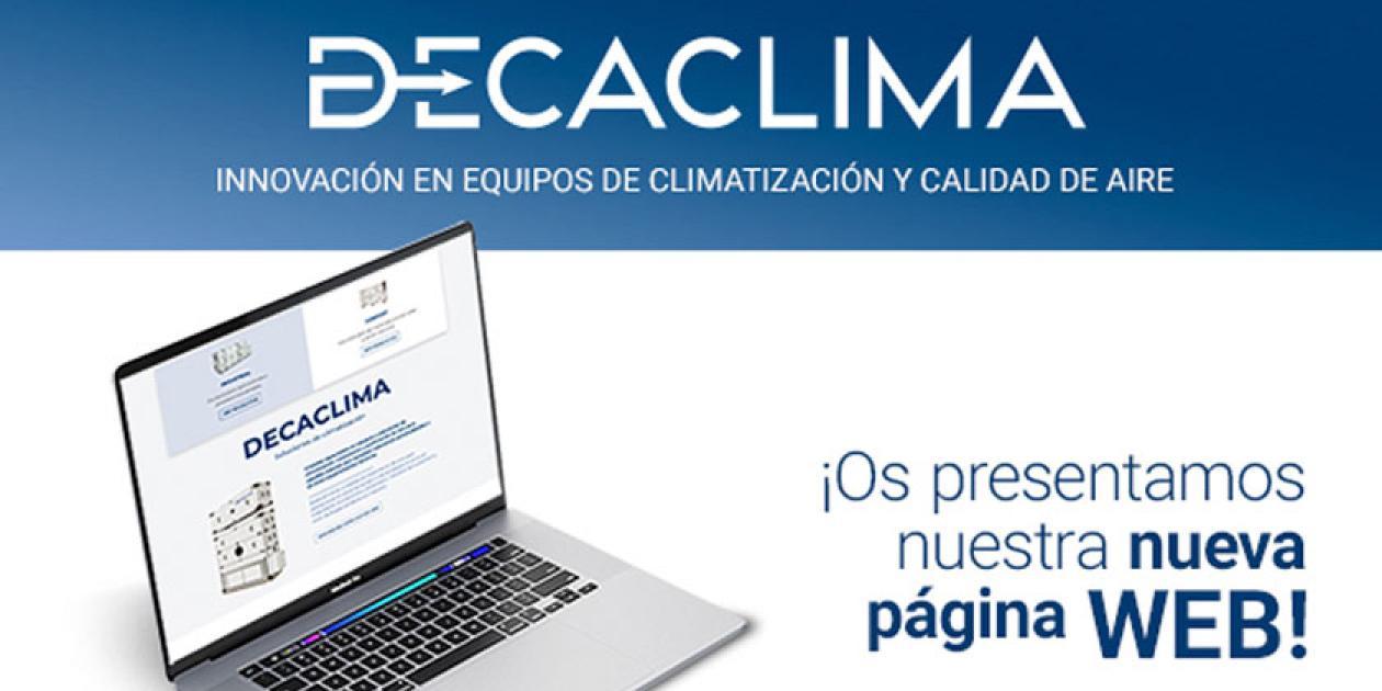 DECACLIMA estrena nueva página web corporativa