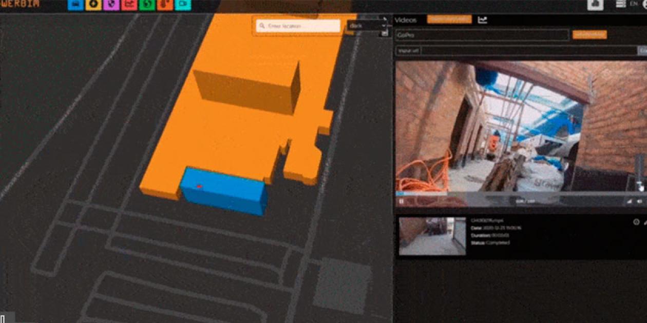 Seguimiento virtual de las obras de dos edificios hospitalarios polivalentes a través de dispositivos conectados a los modelos BIM
