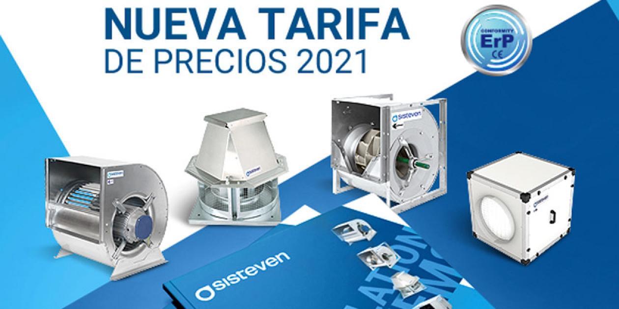Nueva tarifa 2021 de Sisteven