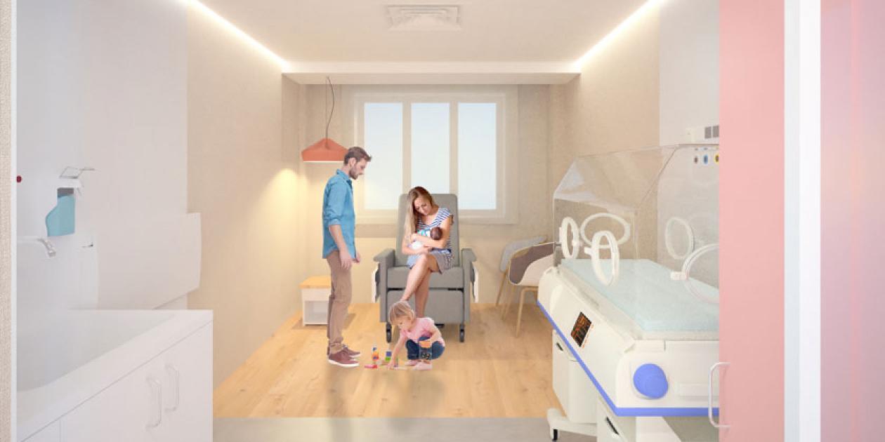 """Proyecto """"Contigo como en casa"""": Hospitalización familiar de neonatología, Hospital Universitari Vall d'Hebron Barcelona"""
