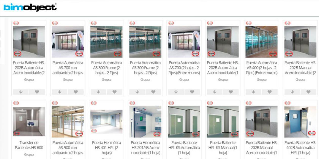 Grupsa publica en BIMObject su librería de sistemas de puertas automáticas