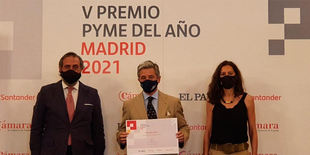 Aire Limpio premiada en los Premios Pyme del Año de Madrid 2021