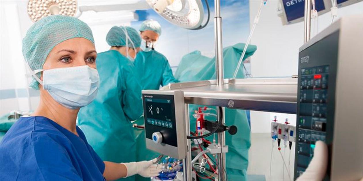 La máquina cardiopulmonar HL 40 de Getinge está disponible para más hospitales europeos