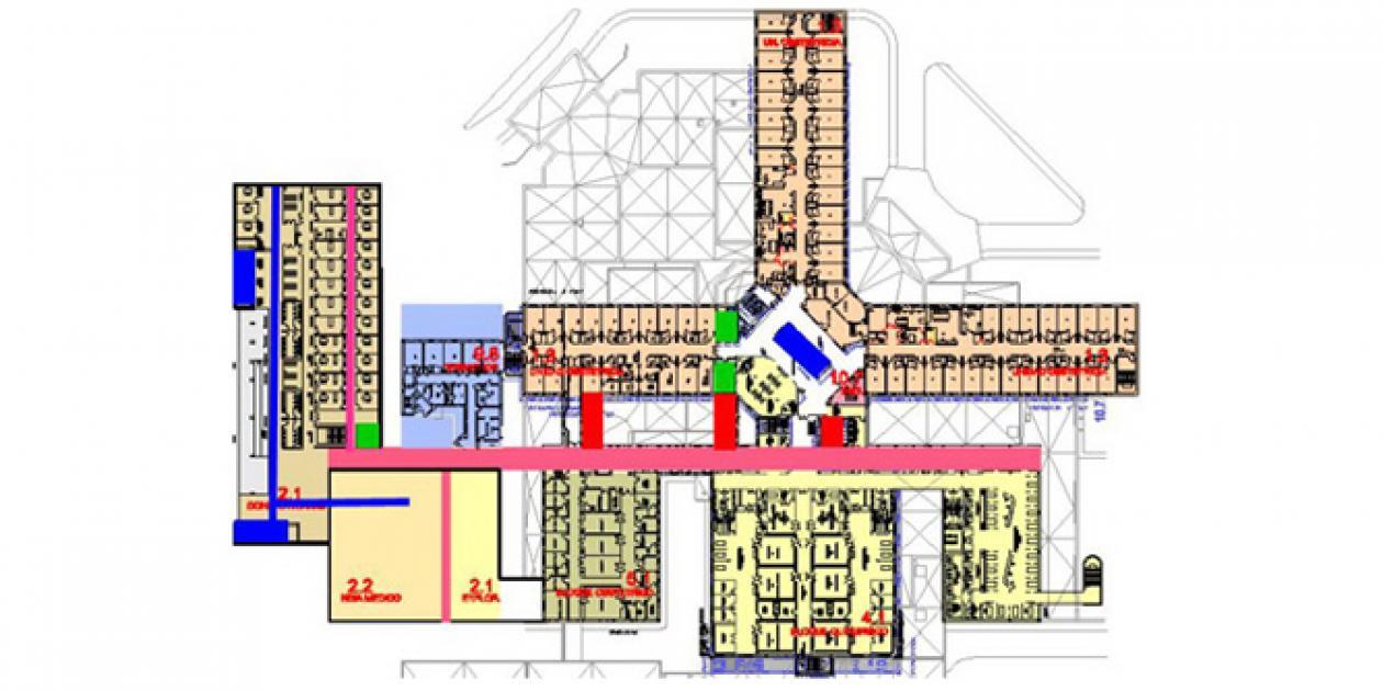 Planificación y diseño de zonas de circulación hospitalarias
