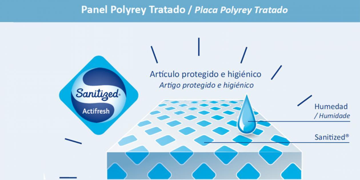 POLYREY - Laminado & Compacto Antibacteriano Sanitized®