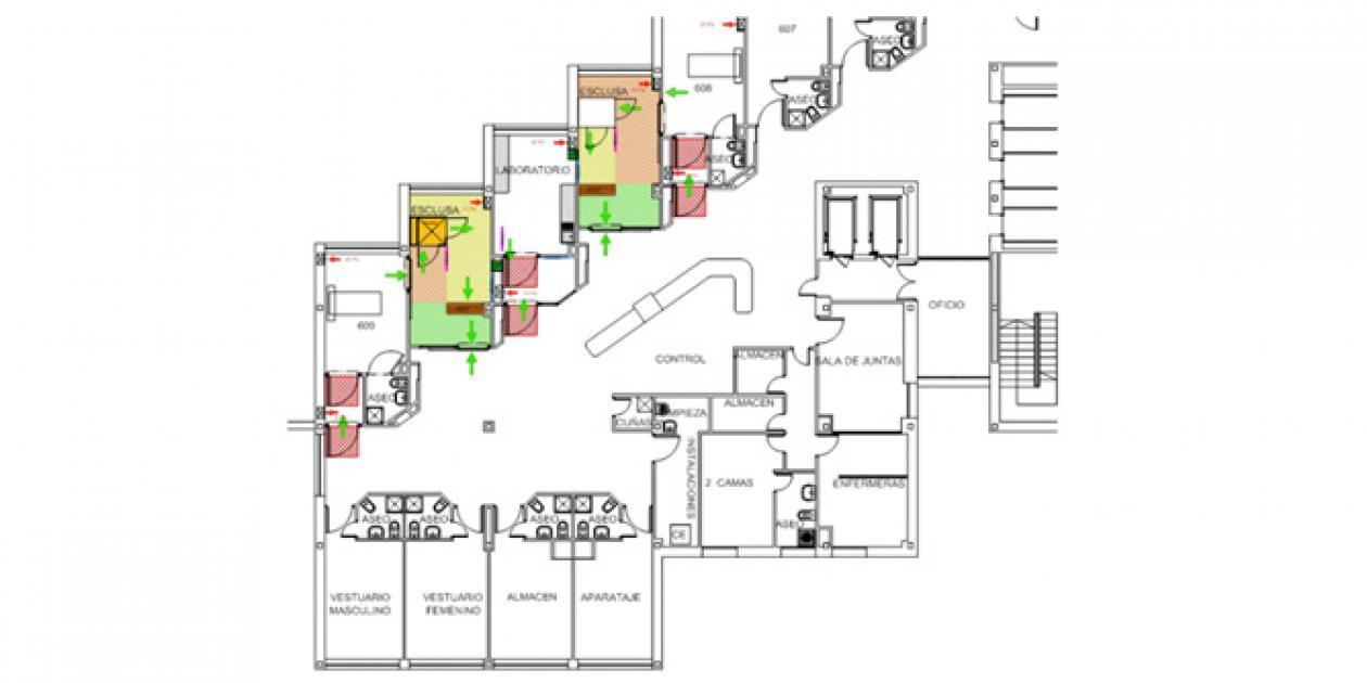 Adaptación de espacios e instalaciones para un caso de Ébola