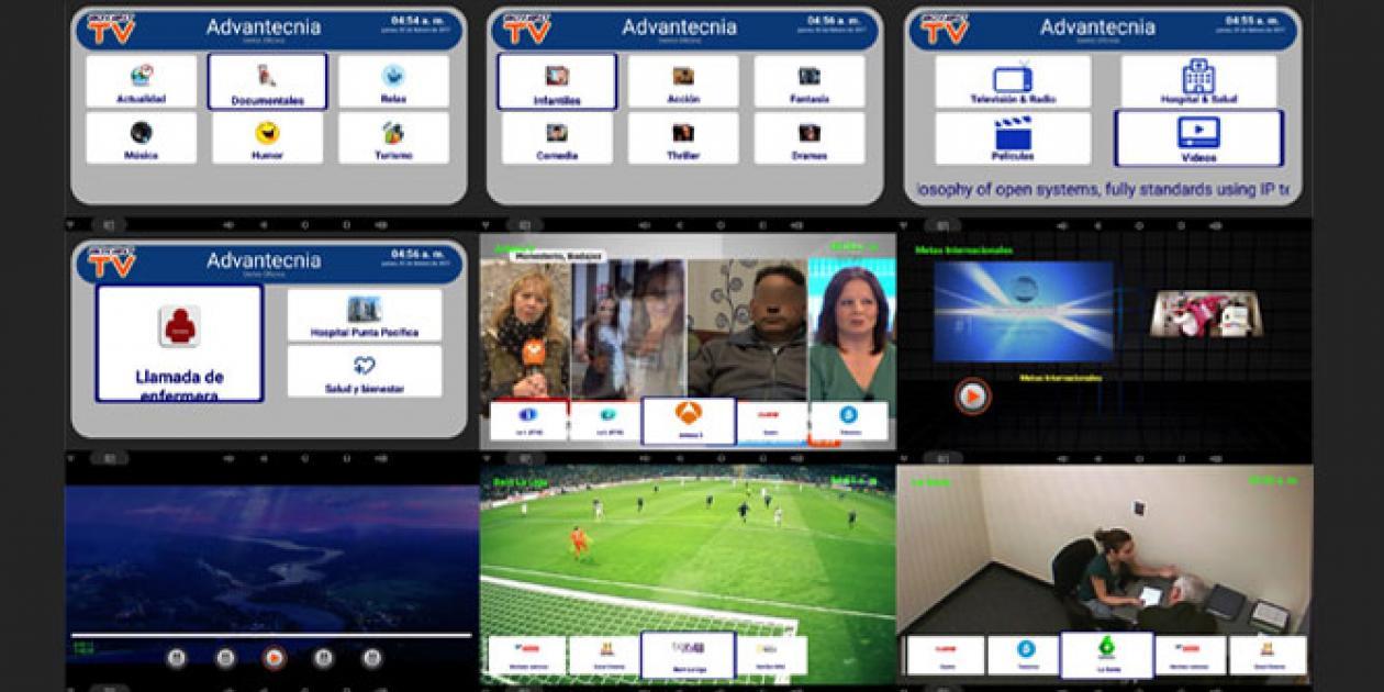 Sistemas de entretenimiento completo para centros sanitarios: AdvantTV