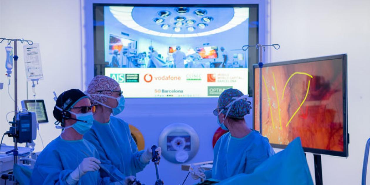 El cirujano remoto: una experiencia 5G en el Hospital Clínic de Barcelona