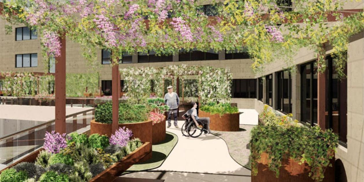 Creación de un jardín terapéutico en un Centro Sociosanitario