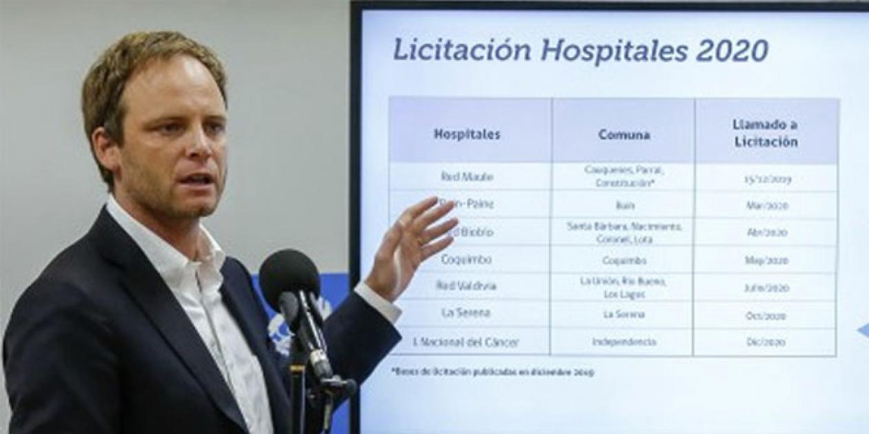 Chile anuncia la licitación de 11 nuevos hospitales durante el 2020