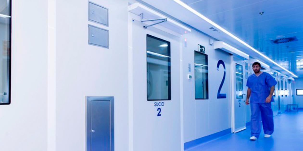 Transformación urgente de pavimentos no específicos para uso hospitalario
