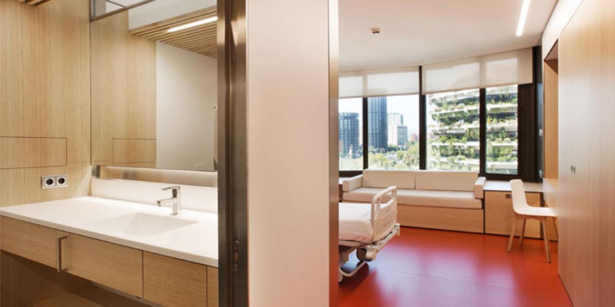 Diseño de habitaciones hospitalarias