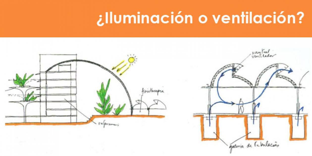 ¿Iluminación o ventilación? Adaptación de los hospitales de la red Sarah al clima mediterráneo