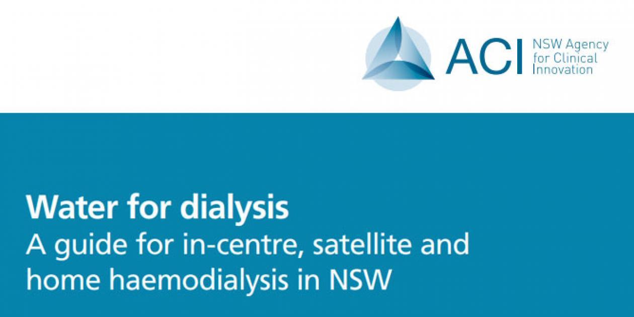 Guía para hemodiálisis en centros, satélite y domiciliaria en NSW