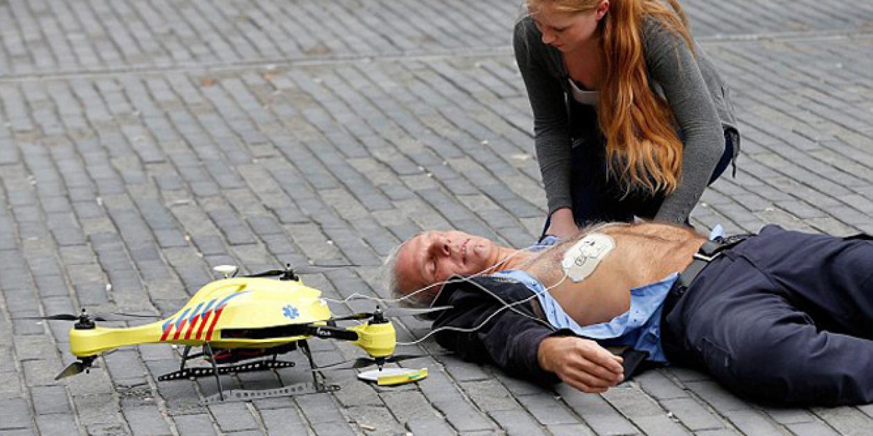 Un dron ambulancia puede salvarte la vida