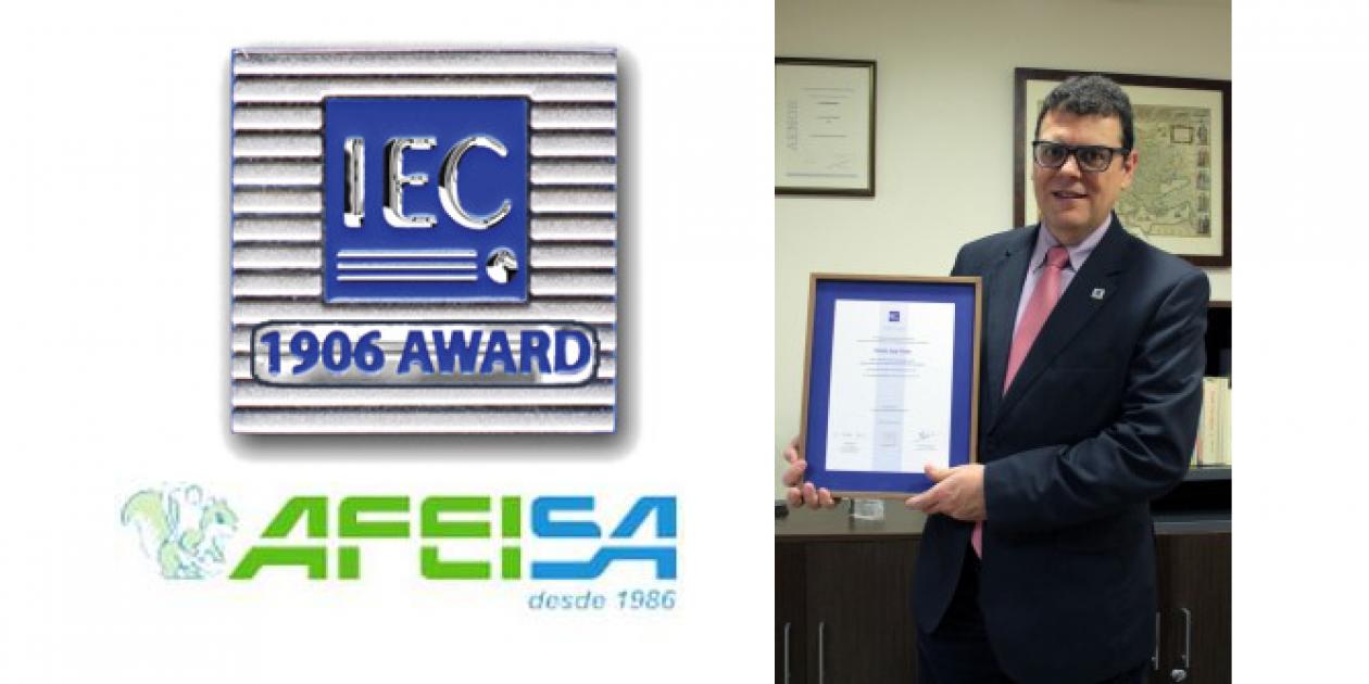 "Premio IEC ""1906 AWARD"" a Carlos J. Vives de AFEISA"